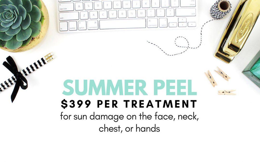 How to easily erase summer skin damage