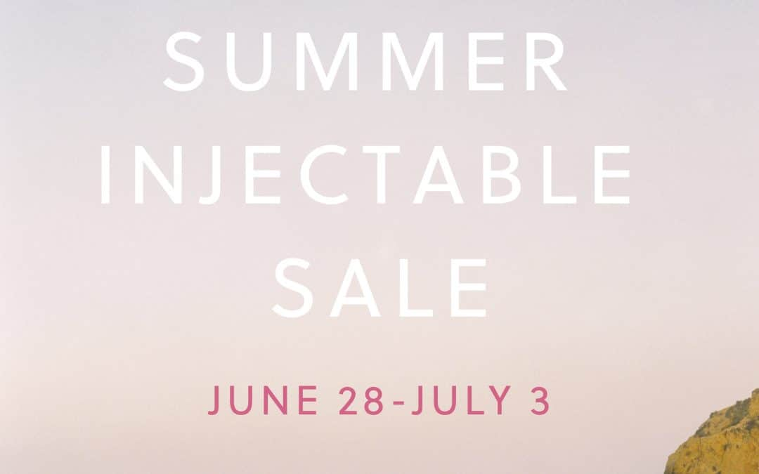 Summer Injectable Sale + Giveaway!